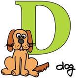 djur D hund för alfabet Arkivfoto