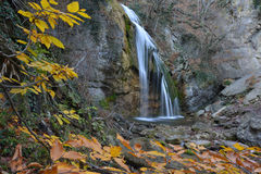 Djur-djur waterfall in autumn Royalty Free Stock Images