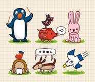 djur drawhand Royaltyfria Bilder