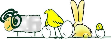 djur easter stock illustrationer