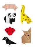 djur en annan origami Fotografering för Bildbyråer