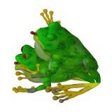 Djur förälskelse: två förälskade grodor Royaltyfri Bild