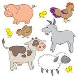Djur för lantgårdgård Arkivfoto