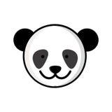 djur för panda för färgrik bildframsida gulligt Arkivbild