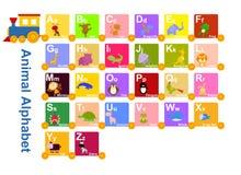 Djur från djurt alfabet Royaltyfri Foto
