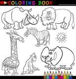 Djur för färgläggningbok eller sida Arkivbilder
