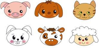 djur framsidaillustration vektor illustrationer