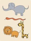 djur grupp royaltyfri illustrationer