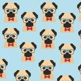 Djur hipsterstil för hund royaltyfri illustrationer
