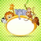 Djur i baby showerinbjudan Fotografering för Bildbyråer