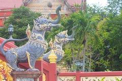 Djur i litteraturtempel i Thailand Arkivfoto