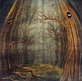 Djur i skog stock illustrationer