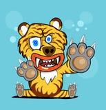 djur jägaredesign för tiger Stock Illustrationer