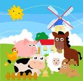 djur lantgård Arkivbilder