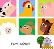 djur lantgård Arkivfoto