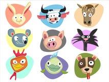 djur lantgård vektor illustrationer