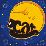 Djur logo-cat2 Fotografering för Bildbyråer