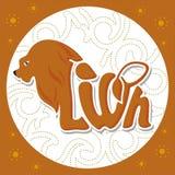 Djur logo-lion2 Royaltyfria Bilder
