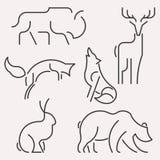 Djur logouppsättning vektor illustrationer