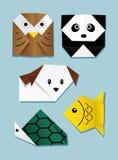 djur origami Arkivbilder