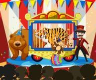 Djur show på karnevalet vektor illustrationer