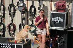Djur show på universella studior Hollywood royaltyfria bilder