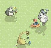 Djur som har gyckel No.6 stock illustrationer