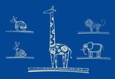 djur ställde in vektorn stock illustrationer