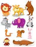 djur ställde in wild royaltyfri illustrationer