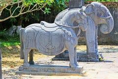 Djur staty i imperialistisk gravvalv av Minh Mang, Hue Vietnam UNESCOvärldsarv Royaltyfri Foto