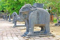 Djur staty i Tri Hue Imperial Tomb av kejsaren Thieu, Hue Vietnam UNESCOvärldsarv Arkivbild