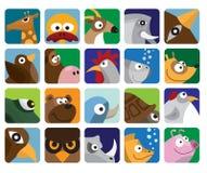 djur symbolsset Royaltyfria Foton