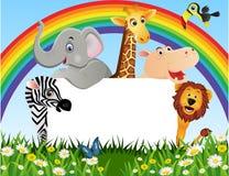 djur tecknad film Royaltyfria Bilder