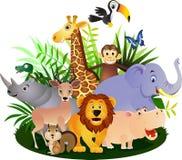 djur tecknad film Arkivbild