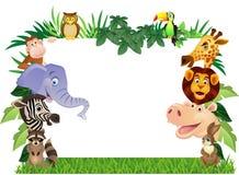 djur tecknad film Arkivbilder