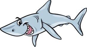 Djur tecknad filmillustration för haj Royaltyfria Bilder