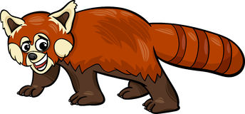 Djur tecknad filmillustration för röd panda Royaltyfri Fotografi