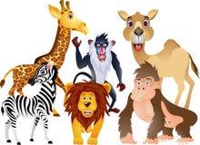djur tecknad filmsamling Arkivfoto