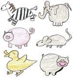 djur tecknad hand Royaltyfri Fotografi