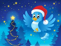 Djur temabild 3 för jul Arkivbild