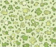 Djur texturerar seamless mönstrar för ungar stock illustrationer