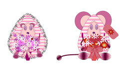 djur toy royaltyfri illustrationer