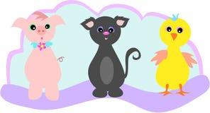 djur trio Arkivbild