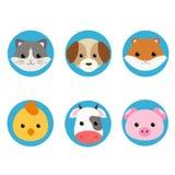 Djur uppsättning för vektorillustrationsymbol Royaltyfria Bilder