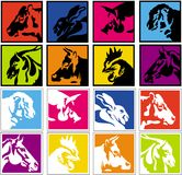 djura lantgårdsymboler Fotografering för Bildbyråer
