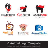 Djura Logo Template Design Vector Vektor Illustrationer