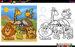 Djura tecken som färgar sidan Fotografering för Bildbyråer