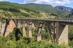 Djurdjevic桥梁,黑山 库存照片