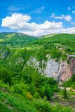 The Djurdjevic Bridge crosses the canyon of the Tara River. In the north of Montenegro Stock Image