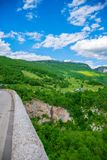 The Djurdjevic Bridge crosses the canyon of the Tara River. In the north of Montenegro Stock Photography